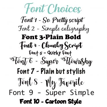 Custom vinyl decal labels for DIY cleaning beauty, skincare and essential oils. Make your essential oil decals suit your home decor and personality with your choice of one of our 10 fonts.
