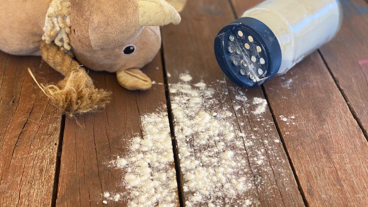 DIY Dry Dog Shampoo Powder