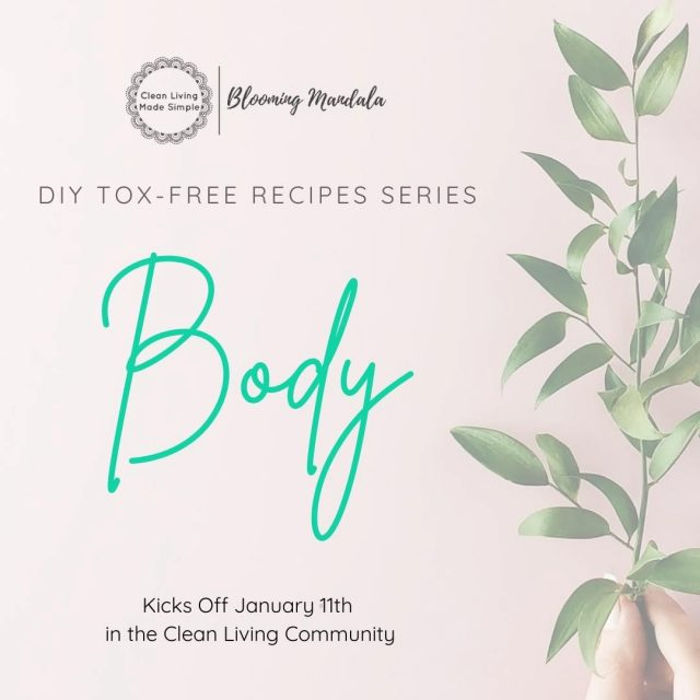 Have you been meaning to start removing toxins from your family home and reduce your eco-footprint but have no clue where to start?? Or do you find the whole idea of DIY just a tab bit daunting? Our FREE DIY TOX-FREE RECIPES SERIES  will help you get past the road blocks and hold your hand while you dip your toe into some DIY. To kick things off on Monday, January 11 we are launching our FREE DIY TOX-FREE RECIPES SERIES with 7 days of DIY Body & Personal Care Recipes. Be sure to follow us so you don't miss any of the recipes!! Over the first week, we will share some of our favorite and most popular body & personal care recipes, including shower gels and foaming soaps. body butter and oils, tooth powders, face masks & more.... We plan to follow this up with our fav cleaning recipes in coming weeks  . . . . . . . . #lowtoxlife #ditchandswitch #toxinfreeliving #toxinfreehome #healthyhome #Nontoxichome #notoxins #cleanproducts #nochemicals #greenproducts #environmentallyfriendly #diymakeup #diyskinscare #homemade #sustainableskinperth #Nontoxicskincare #greenbeautylover #organicbeauty #naturalbeautyproducts #sustainablebeauty #cleanbeautyrevolution #Lowtox #lowtoxliving  #cleanliving #cleanlivingmadesimple #bloomingmandala #toxfree #chemicalfree #chemicalfreeliving #diyrecipes