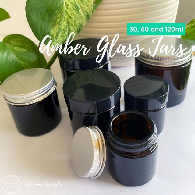 Amber Glass Jars Our small Amber Glass Jars come in 30, 60 and 120ml sizes, with your choice of silver aluminum or black plastic lid.  These smaller sizes make them perfect for all you DIY goodies like deodorant, face masks and salves. The amber glass protects your recipe from UV rays which can damage the beneficial properties of some ingredients like essential oils. In addition to our black plastic lids, we have introduced the aluminum option. Now there is options for those of us who wish to go completely plastic free! Happy days 🌏 Link to shop in bio #environmentallyfriendly #homemade #lowtox #lowtoxliving #cleanliving #cleanlivingmadesimple #bloomingmandala #toxfree #chemicalfree #chemicalfreeliving #diyrecipes #lowtoxlife #ditchandswitch #toxinfreeliving #toxinfreehome #healthyhome #nontoxichome #notoxins #cleanproducts #nochemicals #greenproducts #zerowasteaustralia #zerowastehome #zerowastecleaning #zerowasteproducts #zerowastelife #zerowastetips #zerowastemovement #zerowastediy #zerowasteideas