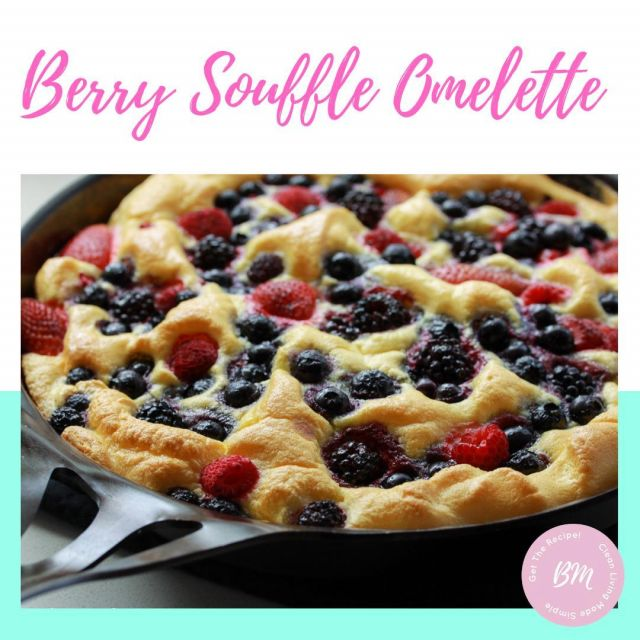 Have you tried our Berry Soufflé Omelette?!  It sounds super fancy but actually its the simplest thing to make and tastes DELICIOUS!  Give it a go! it doesn't take up much time and is great if you're looking for an alternative to those sugar packed breakfast cereals as the kids will love it too!  Let us know if you give it a go and how it was received in your house :) link in bio